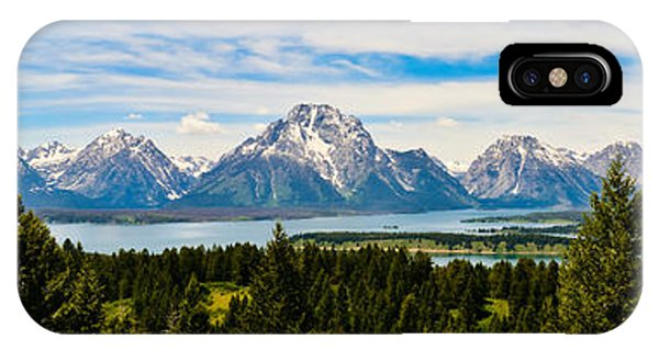 Teton June Panorama IPhone Case