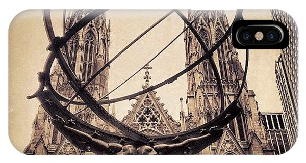 Religious iPhone Case - The Atlas & St. Patrick's Cathedral - by Joel Lopez