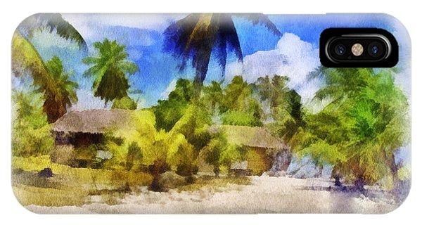 The Beach 01 Phone Case by Vidka Art