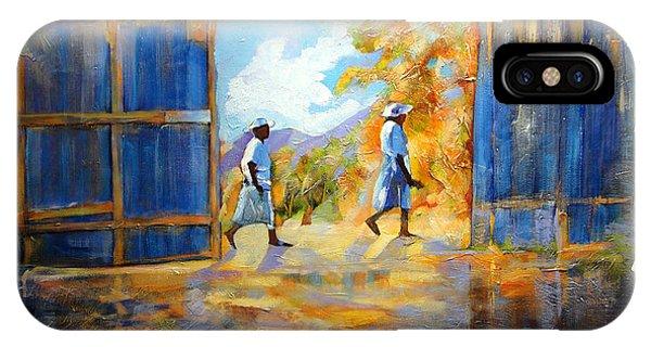 The Blue Gates Of Haiti IPhone Case