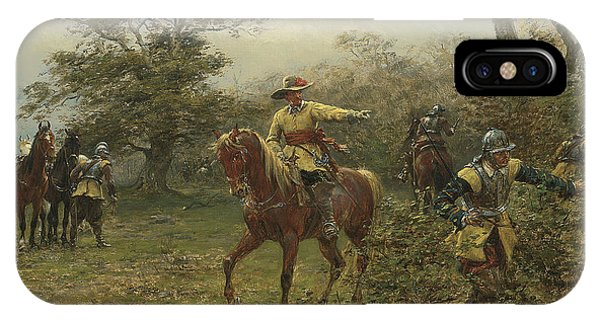 King Charles iPhone Case - The Boscobel Oak by Earnest Crofts