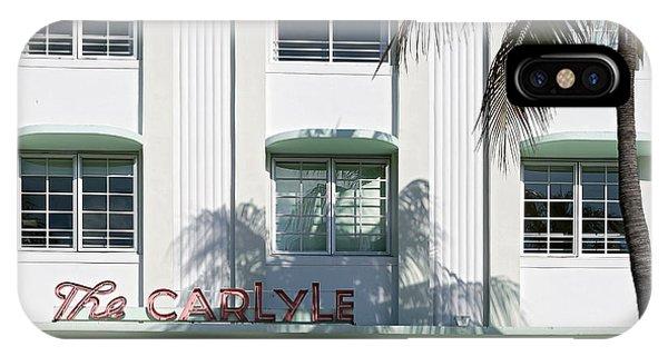 The Carlyle Hotel 2. Miami. Fl. Usa IPhone Case