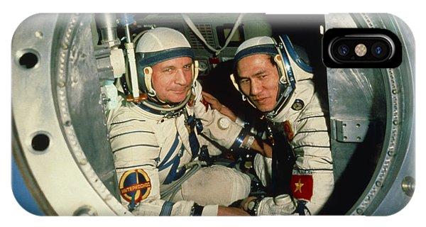 The Crew Of Soviet Spacecraft Soyuz 37 IPhone Case