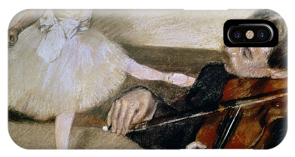 Violin iPhone X Case - The Dance Lesson by Edgar Degas