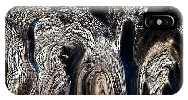 Sherri iPhone Case - The Elephant And The Cave Man by Sherri's - Of Palm Springs