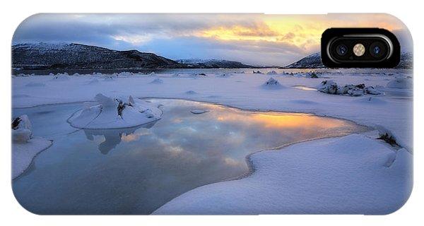 The Fjord Of Tjeldsundet In Troms IPhone Case