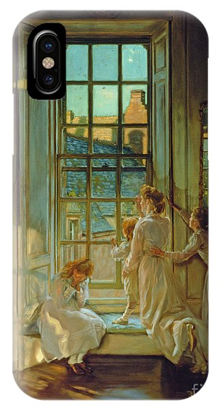 Swallow iPhone Case - The Flight Of The Swallows by John Henry Lorimer