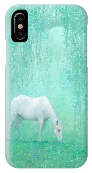 White Horse iPhone Case - The Green Glade by Steve Mitchell