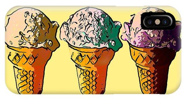 Ice Cream iPhone Case - The Icecream Factory . 3 Cents Per Scoop by Wingsdomain Art and Photography