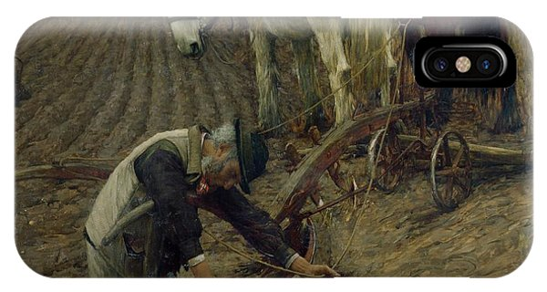 Plowing iPhone Case - The Last Furrow by Henry Herbert La Thangue