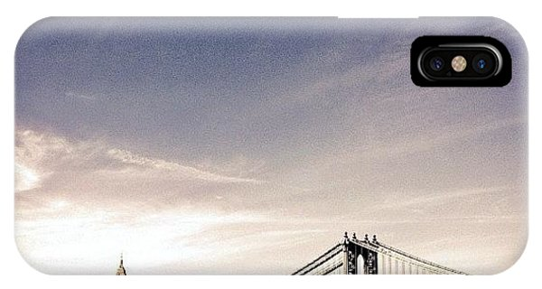 The Manhattan Bridge And New York City Skyline IPhone Case