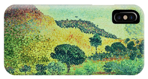 Plowing iPhone Case - The Maures Mountains by Henri-Edmond Cross