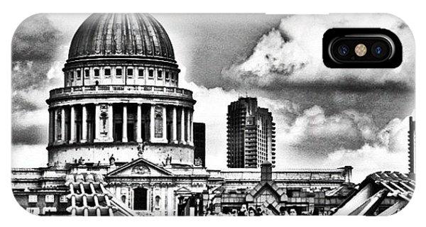 London Bridge iPhone Case - The Millennium Bridge Leading To St by Richard Randall
