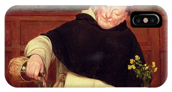 Wine Pouring iPhone Case - The Monk's Repast by Walter Dendy Sadler