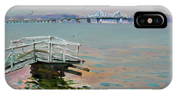 Hudson River iPhone Case - The Old Deck And Tappan Zee Bridge by Ylli Haruni