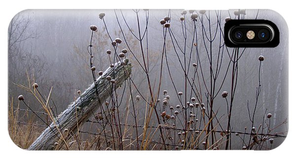 The Old Fence - Blue Misty Morning IPhone Case