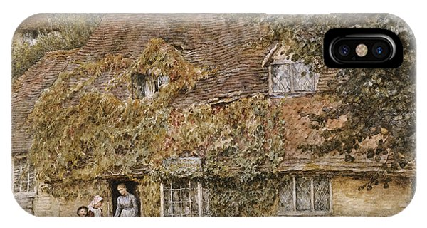 English Village iPhone Case - The Old Fish Shop Haslemere by Helen Allingham