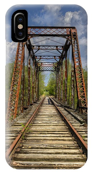 Red Caboose iPhone Case - The Old Trestle by Debra and Dave Vanderlaan