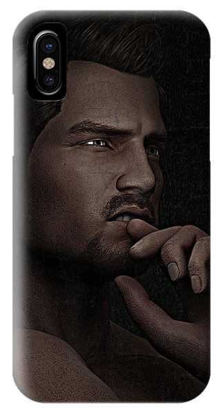 The Pensive Man - Cracked Colour IPhone Case