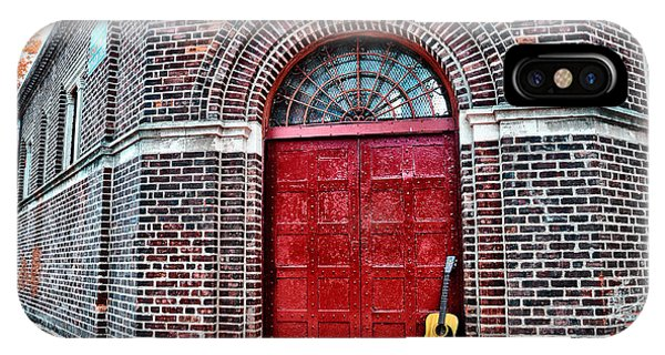 The Red Door And The Guitar IPhone Case