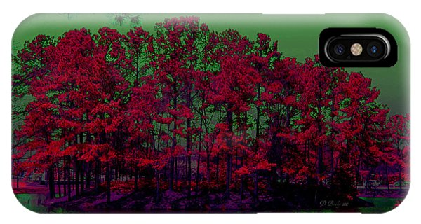 IPhone Case featuring the photograph The Red Forest by Donna Bentley
