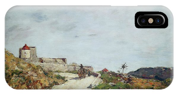 Barren iPhone Case - The Road To The Citadel At Villefranche by Eugene Louis Boudin