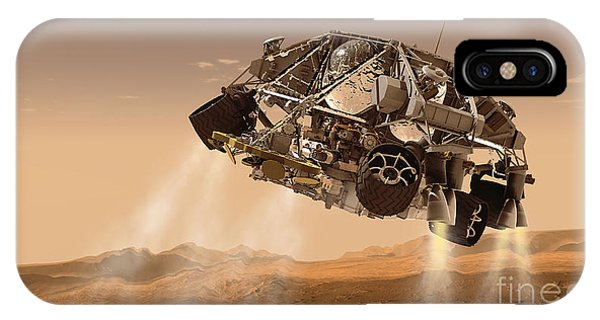 Achievement iPhone Case - The Rover And Descent Stage For Nasas by Stocktrek Images