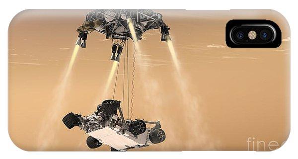 Achievement iPhone Case - The Sky Crane Maneuver by Stocktrek Images