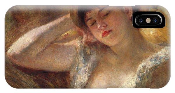 Sleeper iPhone Case - The Sleeper by Pierre Auguste Renoir