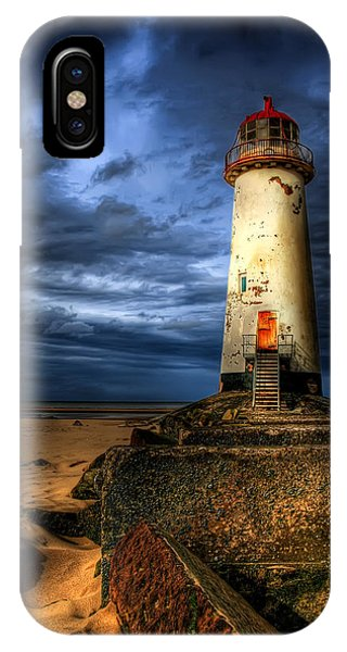 Navigation iPhone Case - The Talacre Lighthouse by Adrian Evans