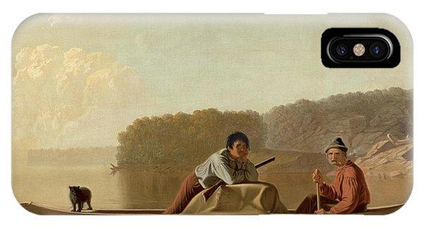 1851 iPhone X Case - The Trapper's Return by George Caleb Bingham