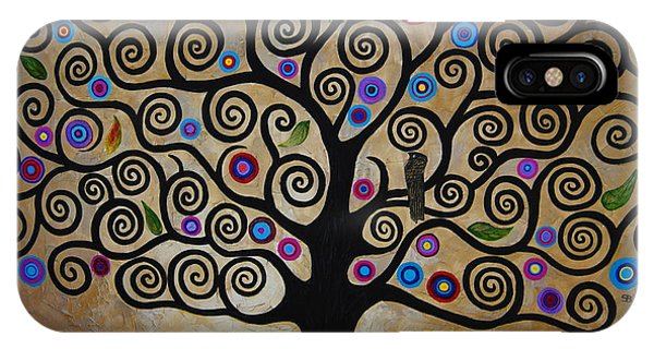 Samantha iPhone Case - The Tree Of Life by Samantha Black