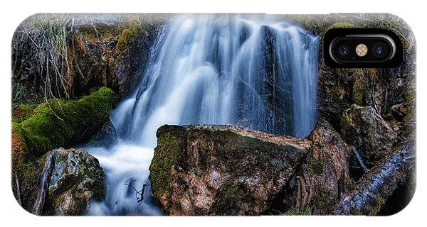 The Upper Butler Fork Falls Phone Case by Mitch Johanson