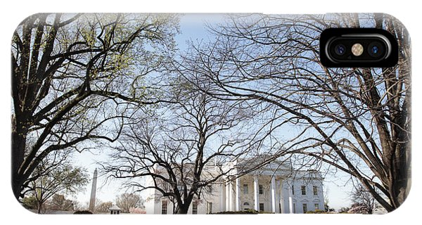 The White House And Lawns IPhone Case