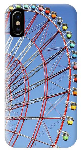 Odaiba iPhone Case - The Wonder Wheel At Odaiba by Axiom Photographic