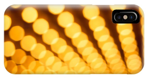 Movie iPhone Case - Theater Lights In Rows Defocused by Paul Velgos