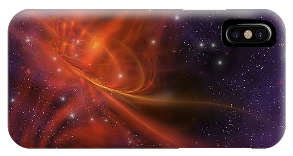 Light Speed iPhone Case - This Cosmic Phenomenon Is A Whirlwind by Corey Ford