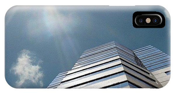 Cloud iPhone Case - This Is A Crop Of The Jewish Hospital by Amber Flowers