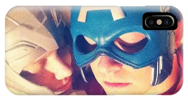 Superhero iPhone Case - Thor And Captain America. #gay #lovers by Joey Broyles