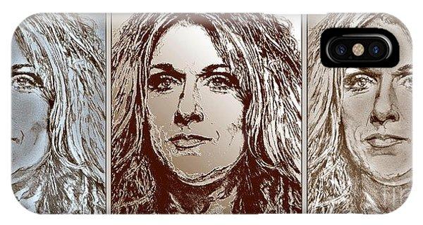 iPhone Case - Three Interpretations Of Celine Dion by J McCombie
