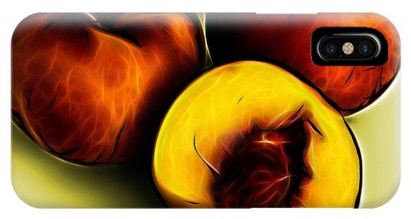 Three Peaches - Yellow IPhone Case