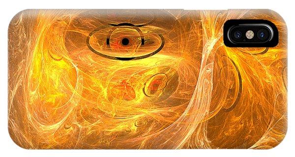 Thunder Eye - Abstract Digital Art Phone Case by Sipo Liimatainen