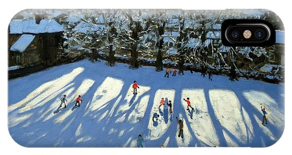 English Village iPhone Case - Tideswell Derbyshire by Andrew Macara