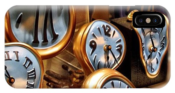 Time Is Melting Away #clocks #clocks IPhone Case