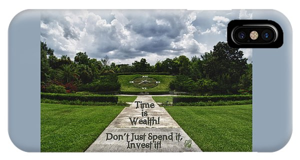 Time Is Wealth IPhone Case