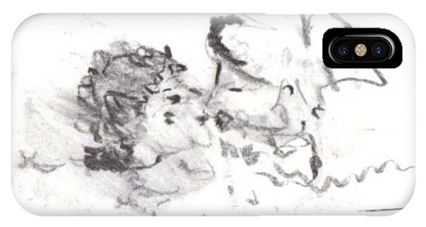 IPhone Case featuring the drawing Timeless Love by Laurie Lundquist