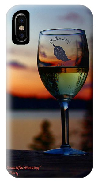 Toasting A Beautiful Evening IPhone Case