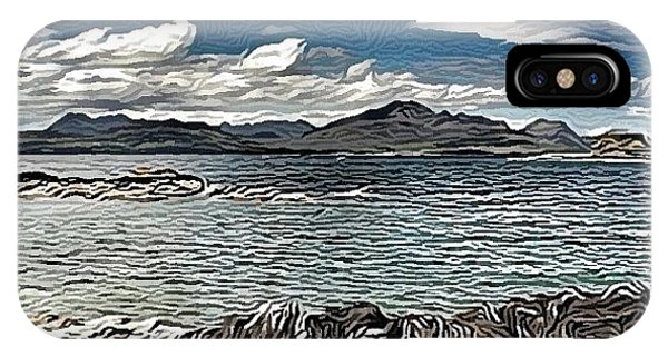 Impressionism iPhone Case - Tokavaig To The Black Cuillins by Robert Campbell