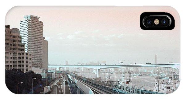 Train iPhone Case - Tokyo Train Ride 3 by Naxart Studio