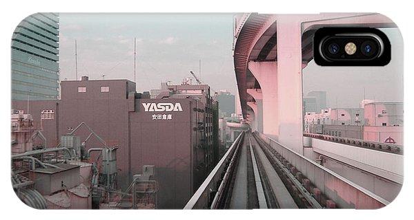 Train iPhone Case - Tokyo Train Ride 5 by Naxart Studio